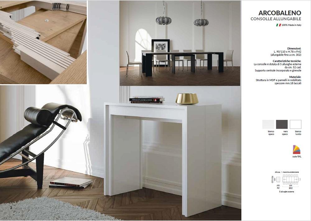 Tavolo Consolle Allungabile Arcobaleno.Blog Post La Nuova Fenice Shop Arredamento Interni Esterni A