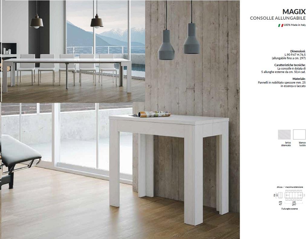 Tavolo Consolle Allungabile Arcobaleno.Complementi D Arredo Arredo Casa La Nuova Fenice Shop